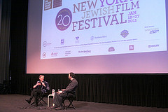 Joshua Safran onstage at the New York Jewish FIlm Festival
