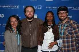 Nadia Costa, Joshua Safran, Natasha Wilson, and Yoav Potash at Sundance