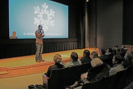 Filmmaker Yoav Potash at the Sundance Film Festival